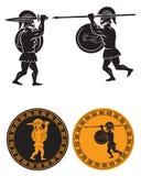 Dwa gladiatora Obrazy Royalty Free
