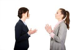 Dwa gniewnego businesswomans Obrazy Stock