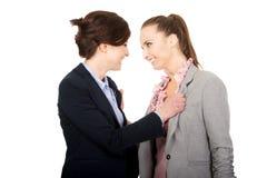 Dwa gniewnego businesswomans Fotografia Royalty Free