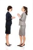 Dwa gniewnego businesswomans Zdjęcie Stock