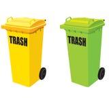 Dwa grata kolor żółty I zieleń. Fotografia Stock