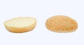 Dwa halfs hamburguer Zdjęcie Royalty Free