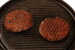 dwa hamburgery Zdjęcia Royalty Free
