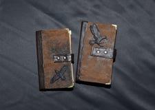 Dwa handmade notatnika z krukami Fotografia Royalty Free