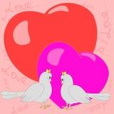 Dwa happygołębi dziewczyny ilustracji