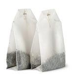 Dwa herbacianej torby each inny Obrazy Stock