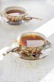 Dwa iapan filiżanki herbata Zdjęcia Stock