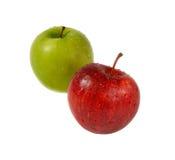 Dwa jabłka czerwonego i zielonego Zdjęcie Royalty Free