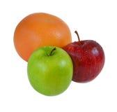 Dwa jabłka czerwonego i zielonego Fotografia Royalty Free