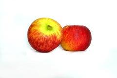 Dwa jabłko odizolowywa Zdjęcia Royalty Free