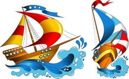 dwa jachtu Obrazy Royalty Free