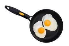 dwa jajka smażyli Zdjęcie Royalty Free