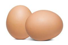 Dwa jajko na białym tle Zdjęcia Stock