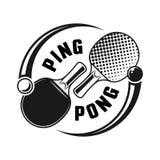 Dwa kanta dla śwista pong logo wektorowego pojęcia royalty ilustracja