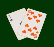 Dwa karta do gry Zdjęcie Stock