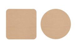 Dwa Kartonowego Piwnego kabotażowa Obrazy Stock