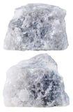 Dwa kawałka Marmurowy kopalina kamień odizolowywający fotografia royalty free
