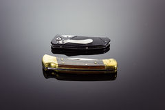 Dwa kieszeniowego knifes zdjęcia royalty free