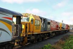 Dwa kiwi Sztachetowego elektrycznego locos Christchurch zdjęcia stock