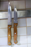 Dwa knifes Zdjęcia Stock