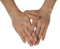 Dwa kobiecej ręki Zdjęcia Royalty Free