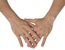 Dwa kobiecej ręki Fotografia Royalty Free