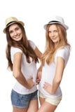 Dwa kobieta przyjaciela ma zabawę. Zdjęcia Royalty Free