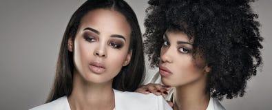 Dwa kobiety elegancki afrykański pozować Fotografia Royalty Free
