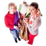Dwa kobiety pracuje na sukni Obrazy Royalty Free