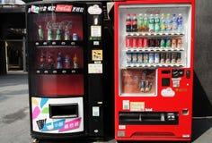 Dwa koka-kola automat Zdjęcie Royalty Free