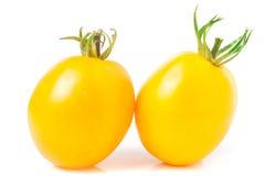 Dwa kolorów żółtych pomidor odizolowywający na białym tle Obraz Royalty Free