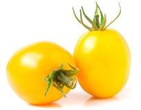 Dwa kolorów żółtych pomidor odizolowywający na białym tle Obrazy Royalty Free