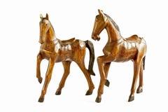Dwa koni drewno odizolowywa na bielu Obraz Royalty Free
