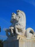 Dwa koni statua w Lisbon Zdjęcie Royalty Free