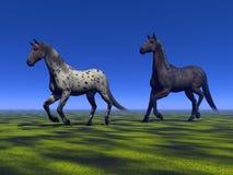 Dwa konia ilustracja wektor