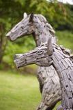Dwa konia drewniana zabawka Zdjęcie Stock