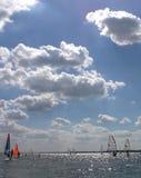 dwa konkursie wiatr Obraz Royalty Free