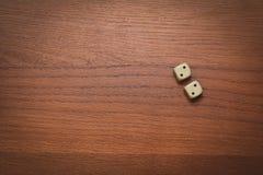 Dwa kostka do gry liczą kopię 2 Zdjęcie Stock