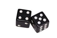 Dwa kostka do gry pokazuje cztery i pięć Obraz Stock