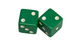 Dwa kostka do gry pokazuje dwa deuces Zdjęcie Royalty Free