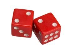 Dwa kostka do gry pokazuje dwa deuces Obraz Royalty Free