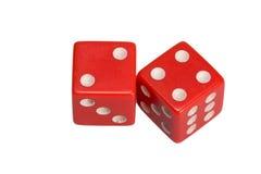 Dwa kostka do gry pokazuje dwa i cztery Fotografia Stock