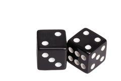 Dwa kostka do gry pokazuje dwa i cztery Zdjęcia Stock