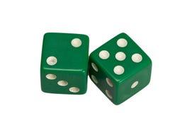 Dwa kostka do gry pokazuje dwa i pięć Zdjęcie Royalty Free