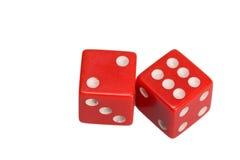 Dwa kostka do gry pokazuje dwa i sześć Zdjęcie Royalty Free