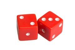 Dwa kostka do gry pokazuje dwa i trzy Zdjęcie Royalty Free