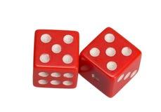 Dwa kostka do gry pokazuje dwa pięć Obraz Stock