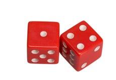 Dwa kostka do gry pokazuje jeden i cztery Zdjęcie Royalty Free