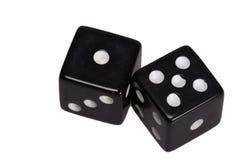 Dwa kostka do gry pokazuje jeden i pięć Zdjęcie Stock
