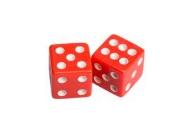 Dwa kostka do gry pokazuje pięć i sześć Obrazy Royalty Free
